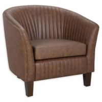 Lumisource® Faux Leather Upholstered Shelton Chair in Brown