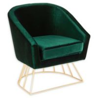 Lumisource® Velvet Upholstered Canary Chair in Green