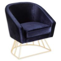 Lumisource® Velvet Upholstered Canary Chair in Blue