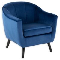 Lumisource® Velvet Upholstered Rockwell Chair in Blue