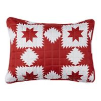 Stars King Pillow Sham in Red