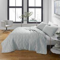 City Scene® Checker Stitch Full/Queen Quilt Set in Grey