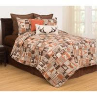 C&F Enterprises, Inc Buck Ridge Reversible Full/Queen Quilt Set in Brown