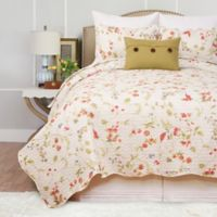 C&F Enterprises, Inc Abigail Reversible King Quilt Set in Red/Green