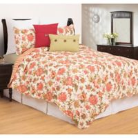 C&F Enterprises, Inc Alyssa Reversible Full/Queen Quilt Set in Red/Green