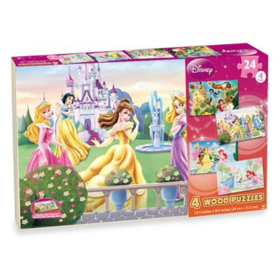 Disney Princess 4Pack Wooden Puzzles Bed Bath Beyond