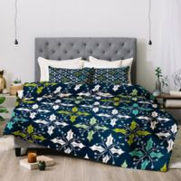 Deny Designs Heather Dutton Holly Queen Comforter Set in Blue