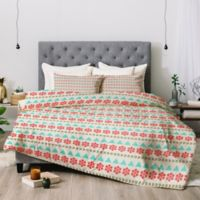 Deny Designs Allysn Johnson Holiday Style King Comforter Set in Blue