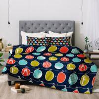 Deny Designs Heather Fa La La La King Comforter Set in Blue