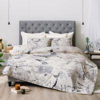 Deny Designs Belle13 Winter Lady King Comforter Set in White