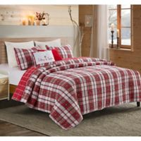 Family 5-Piece King Quilt Set in Red/Green