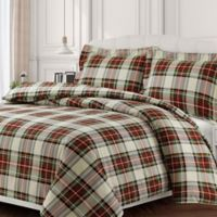 Tribeca Living Charleston Queen Duvet Cover Set in Red