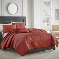 Croscill® Cosette Quilted King Coverlet in Red