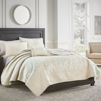 Croscill® Cosette Quilted King Coverlet in Ivory