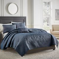 Croscill® Cosette Quilted King Coverlet in Dark Blue