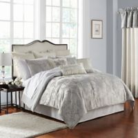 Marquis® by Waterford Lacy King Comforter Set in Silver