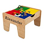 KidKraft®'s Personalized 2-in-1 Activity Table in Natural with Brown Lettering