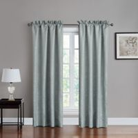 Marquis® by Waterford Surrey 84-Inch Rod Pocket Window Curtain Panel Pair in Steel