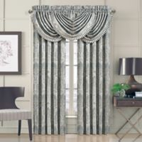 J. Queen New York™ Dimitri 84-Inch Rod Pocket Window Curtain Panel Pair in Spa