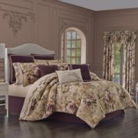 J. Queen New York Grace Queen Comforter Set in Amethyst
