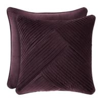 J. Queen New York Grace Pleated Square Throw Pillow in Amethyst