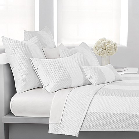 DKNY Harmony King Quilt in White