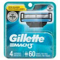 Gillette MACH3® 4-Count Men's Razor Blade Refills