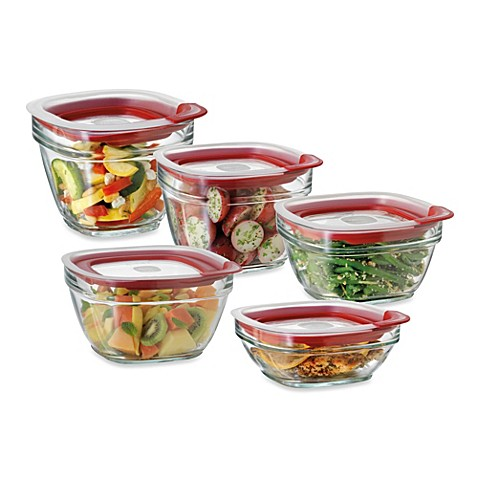 Rubbermaid glass food storage containers with easy find for Bathroom containers with lids