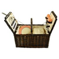Picnic at Ascot Surrey 2-Person Picnic Basket in Orange