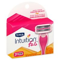 Schick® Intuition® f.a.b.® 3-Count Razor Refills