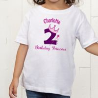 Birthday Princess Personalized Toddler T-shirt