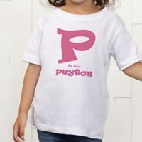 Alphabet Name Personalized Toddler T-Shirt