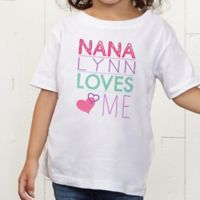 Look Who Loves Me Personalized Toddler T-Shirt
