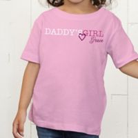 Daddy's Girl Personalized Toddler T-Shirt