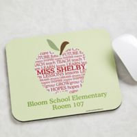 Apple Scroll Personalized Teacher Mouse Pad