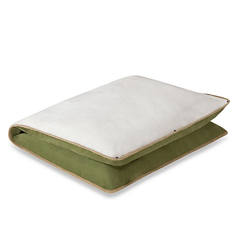 HALO® Unisuede As You Grow Cushioned Pillow in Pistachio/Cream