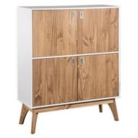 Manhattan Comfort™ Jackie High Dresser Cabinet in White/Oak