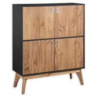 Manhattan Comfort™ Jackie High Dresser Cabinet in Dark Grey/Oak