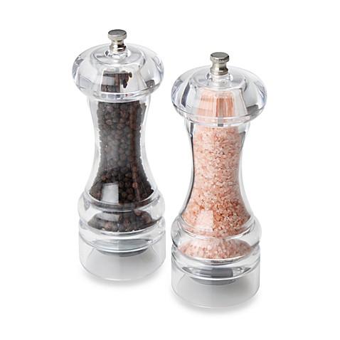 Olde Thompson Mercury Acrylic Pepper Mill Amp Salt Mill Set