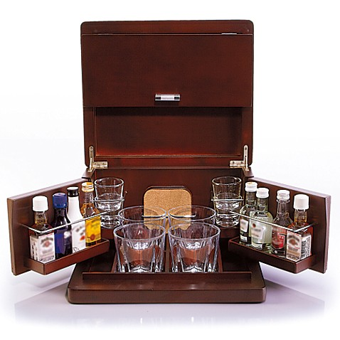 Genial Brookstone® Mini Bar Portable Tabletop Bar U0026 Accessories