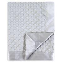 Hudson Baby Dot Mink Blanket with Satin in Grey