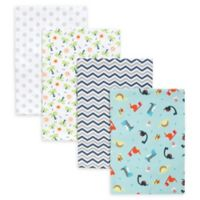 Trend Lab® 4-Pack Dinosaur Deluxe Flannel Receiving Blankets