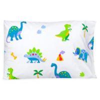 Wildkin Dinosaur Land Standard Cotton Pillowcase in Blue
