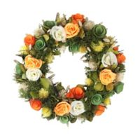Northlight 12.5-Inch Artificial Spring Flowers Wreath