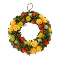 Northlight 12.5-Inch Artificial Yellow and Orange Flowers Wreath