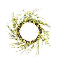 Northlight 12-Inch Forsythia Twig Spring Floral Wreath