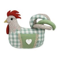 Northlight 9.5-Inch Farmhouse Plaid Rooster Figurine