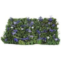 Northlight Lavender Foliage Floor Mat in Brown