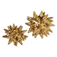 Global Views Urchin Large Sculpture in Bright Gold