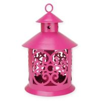 Northlight 8-Inch Tealight Candle Holder Lantern in Pink